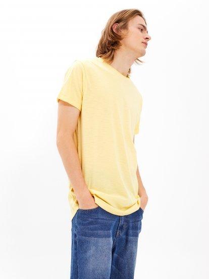 Basic longline slub jersey t-shirt