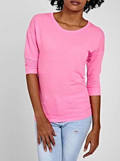 NEON TOP WITH ELBOW PATCHES