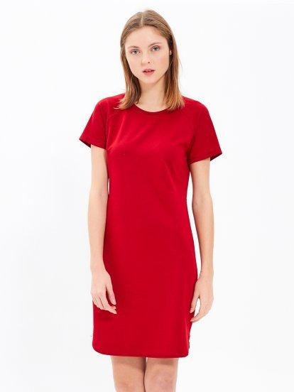 T-SHIRT DRESS WITH SIDE ZIPPER