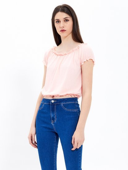 Crepe crop top