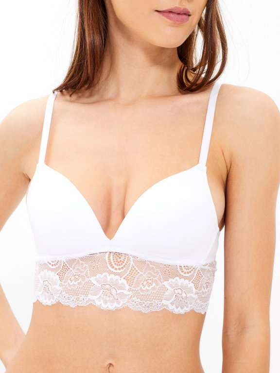 Padded bralette with lace