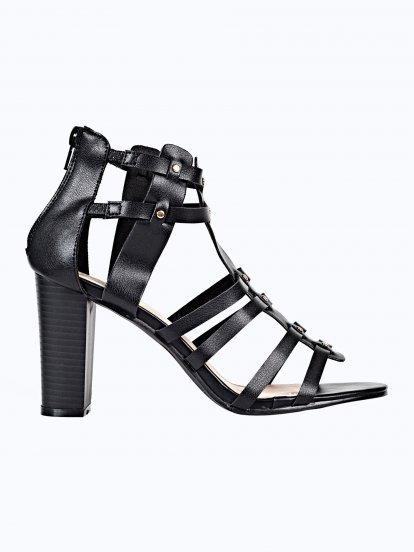 Sandále na podpatku