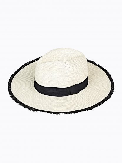 FEDORA HAT WITH TAPE