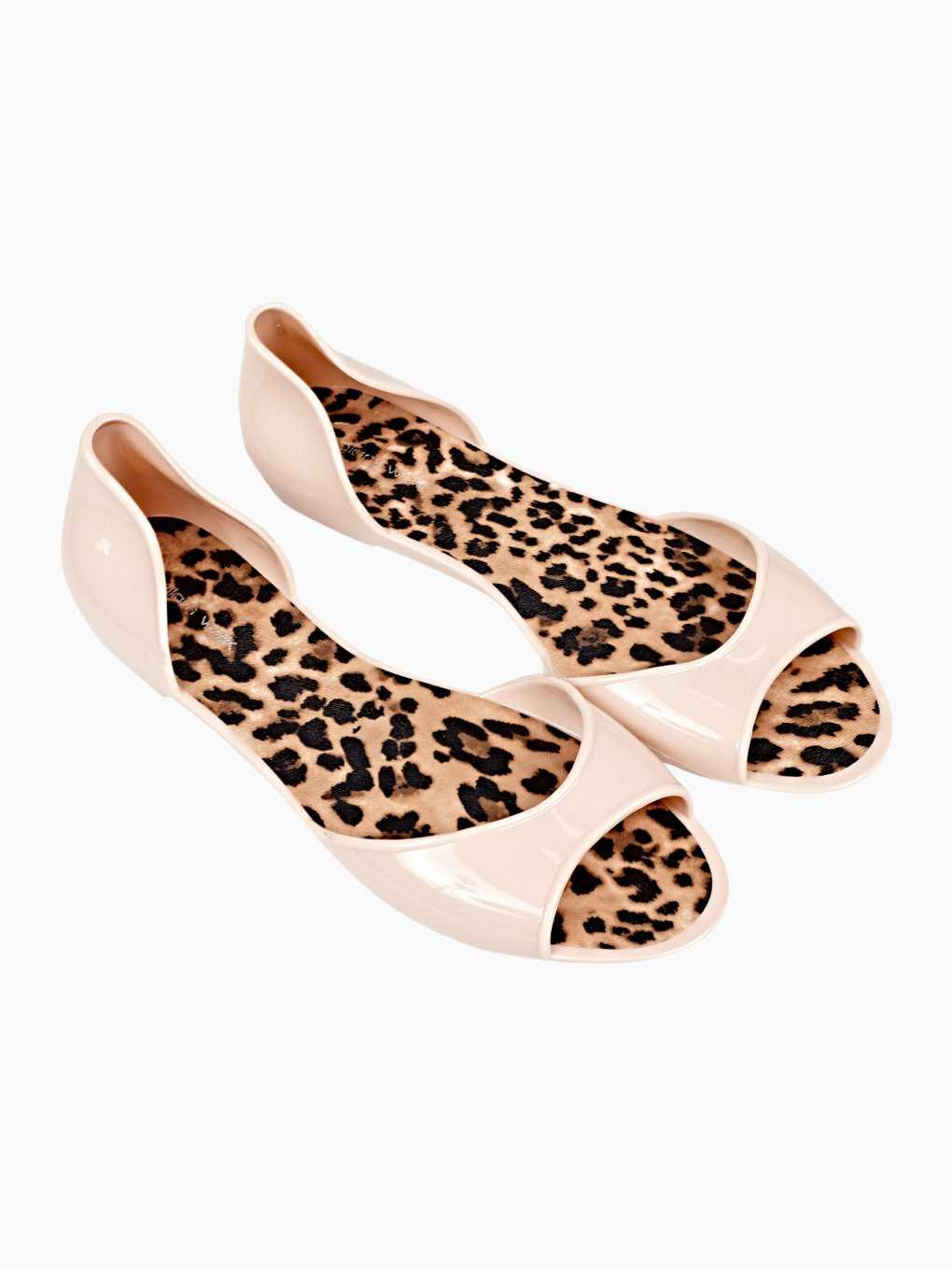 JELLY FLAT SANDALS WITH LEOPARD PRINT INSOLE