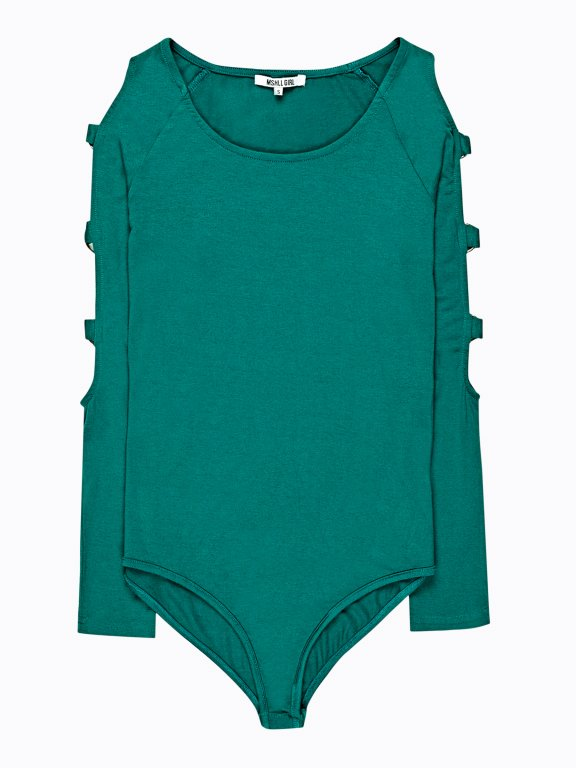 Bodysuit with decorative rings
