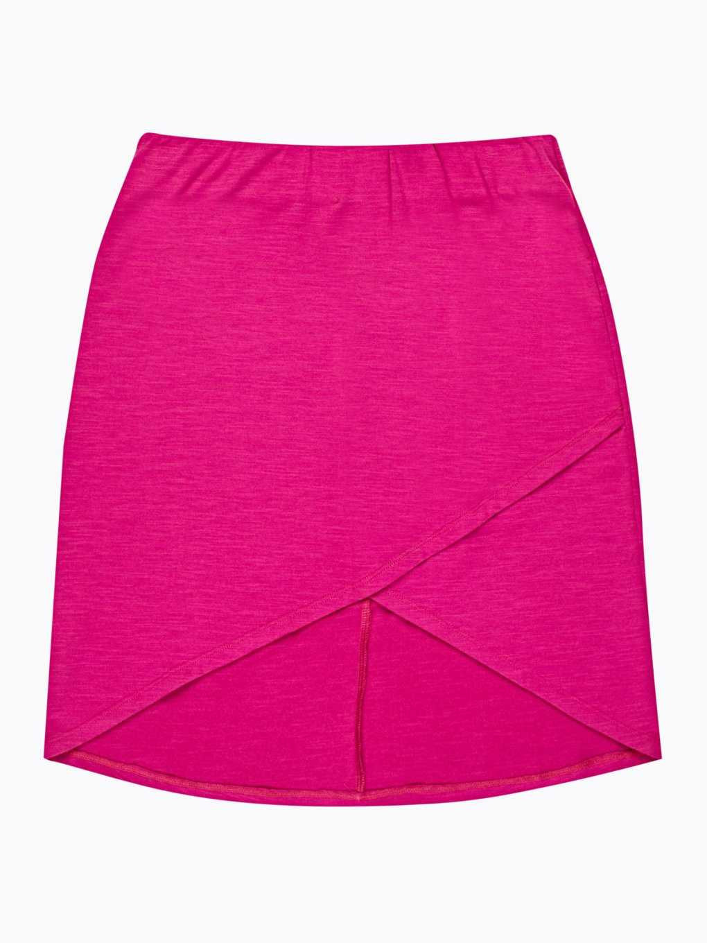 Mini skirt with asymmetric hem