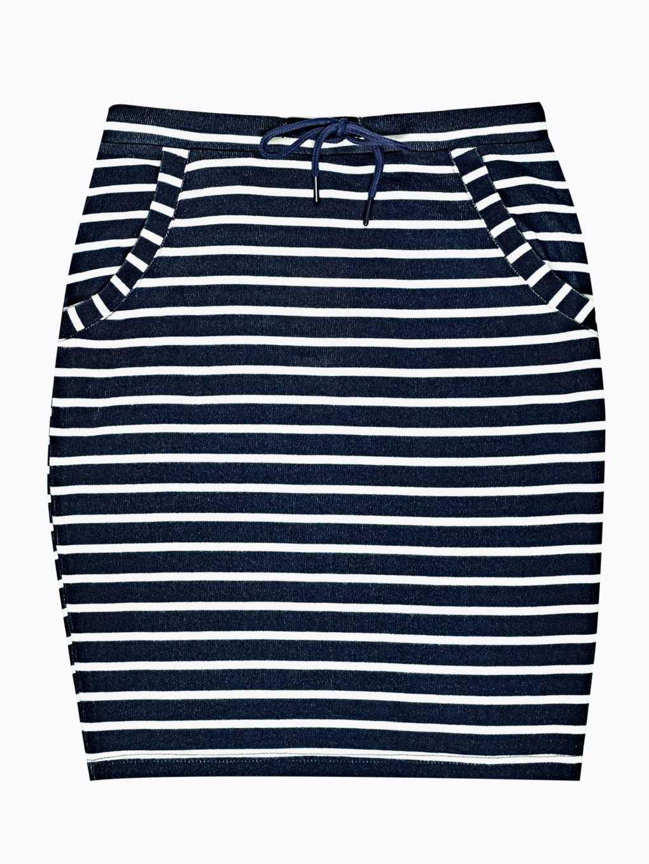 Striped bodycon skirt
