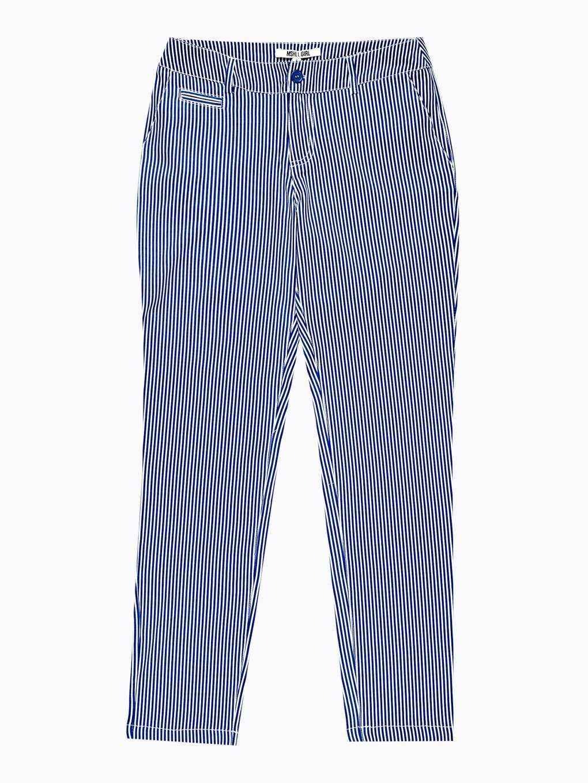 Striped stretch trousers