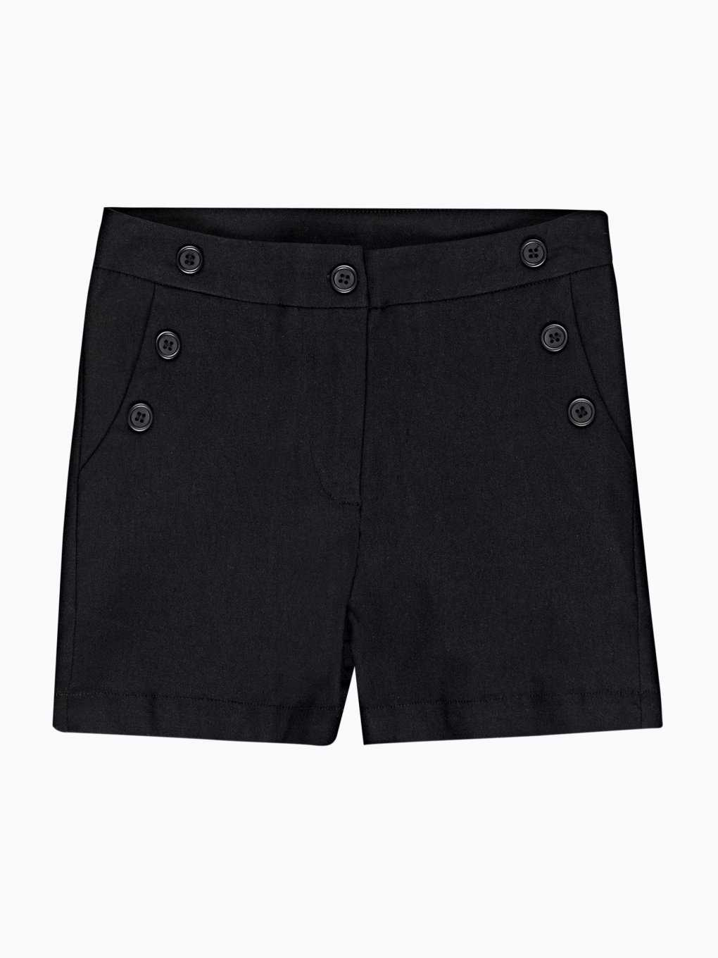 Shorts with decorative buttons