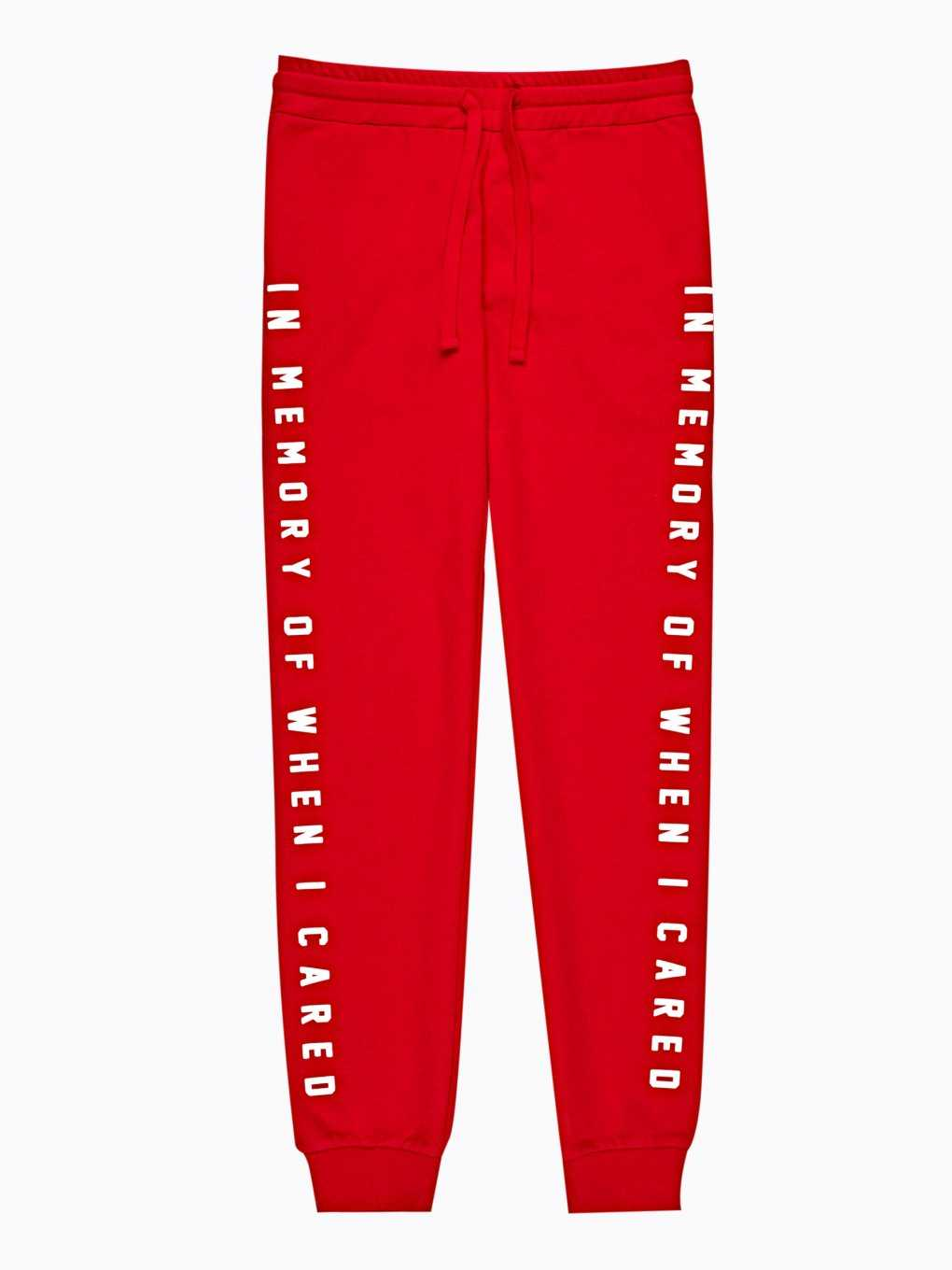 Sweatpants with message print