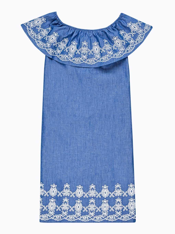 Šaty s odhalenými rameny a výšivkou