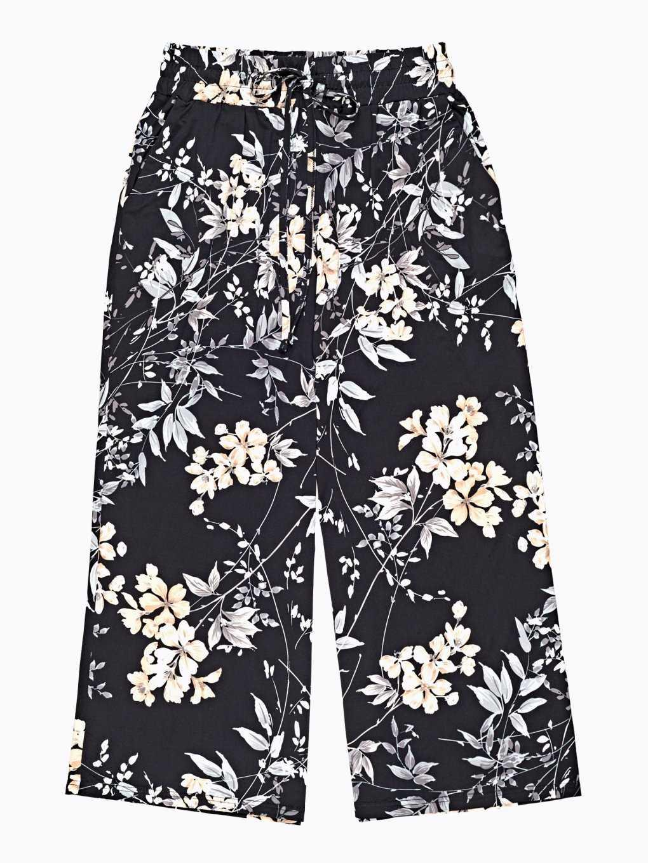 Floral print wide leg trousers