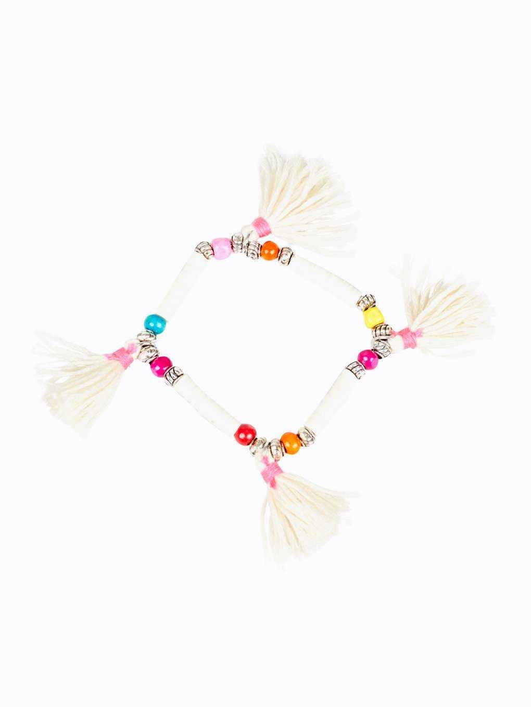 Elastic bracelet with tassels