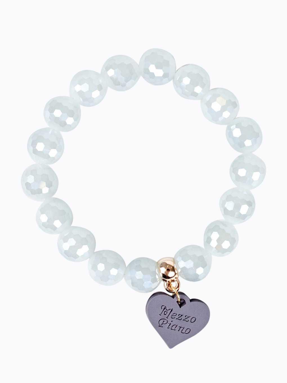 Elastic bracelet with heart pendant