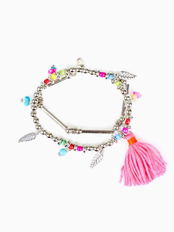 2-pack elastic bracelets set