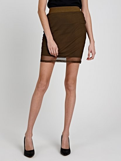 PENCIL SKIRT WITH MESH