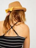 Fedora hat with ribbon