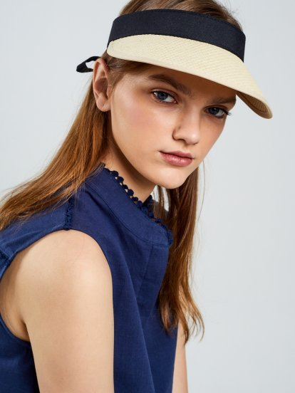 Straw visor hat