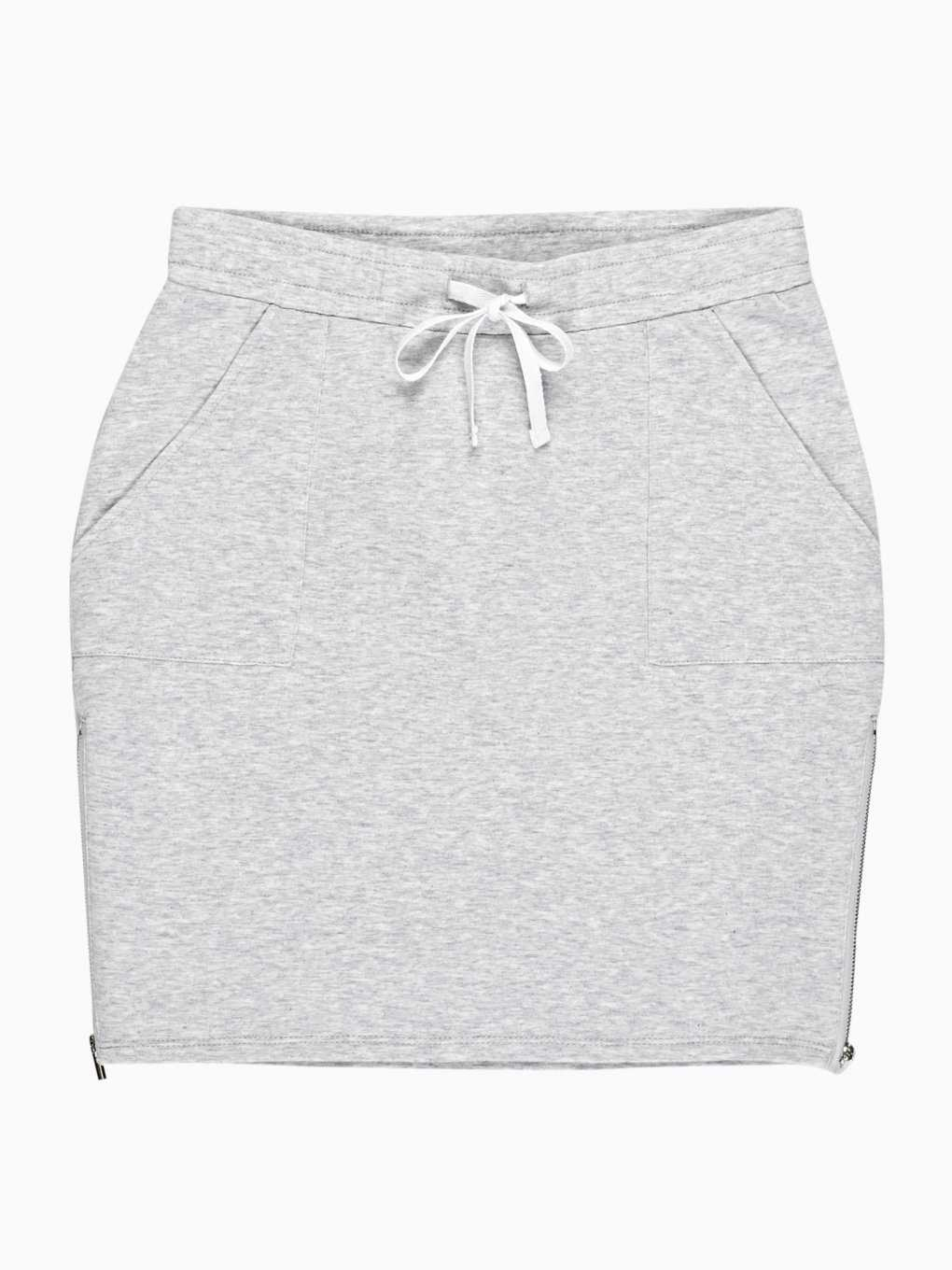 MINI SKIRT WITH SIDE ZIPPERS