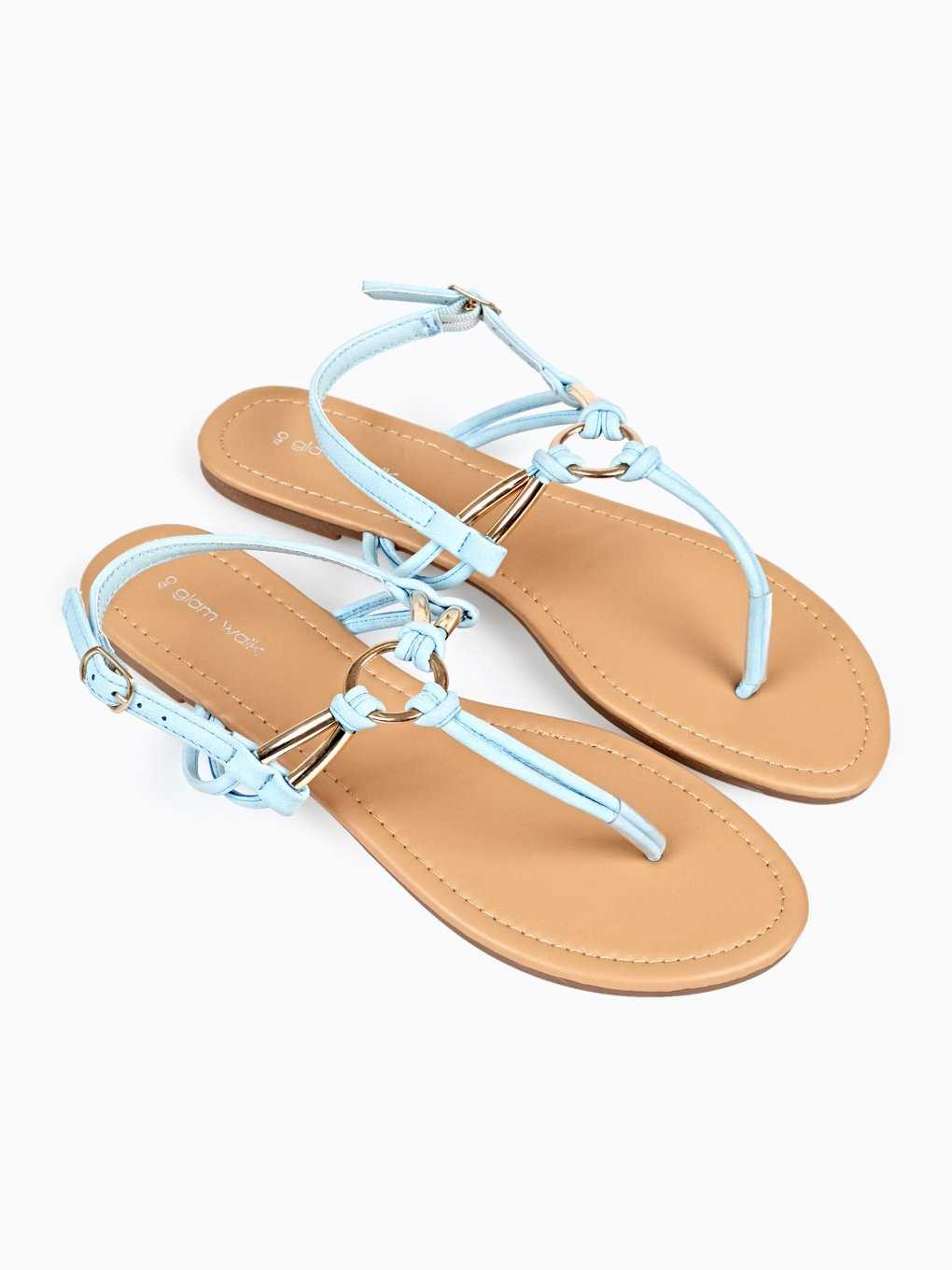 FLAT SANDALS WITH METAL DETAILS