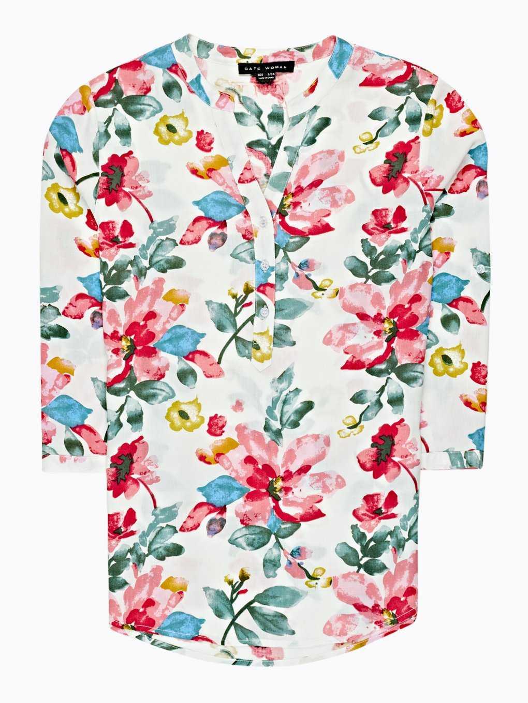 Flower print blouse