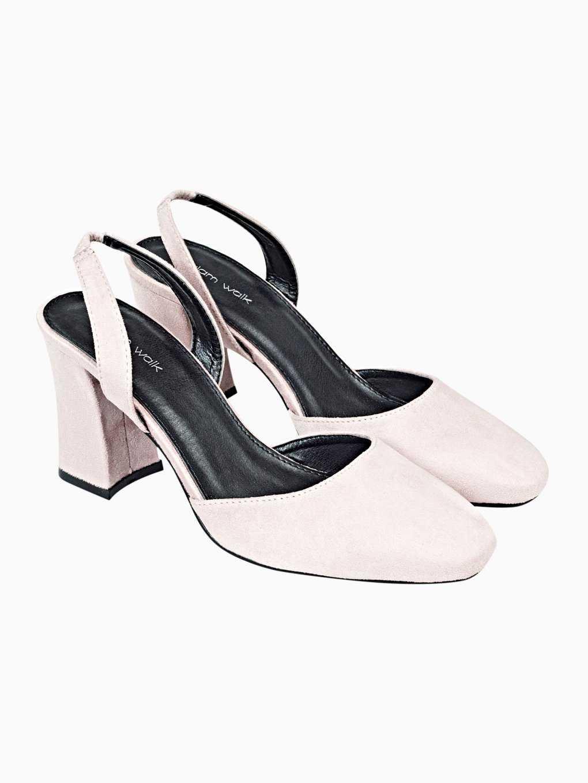Square block heeled sandals