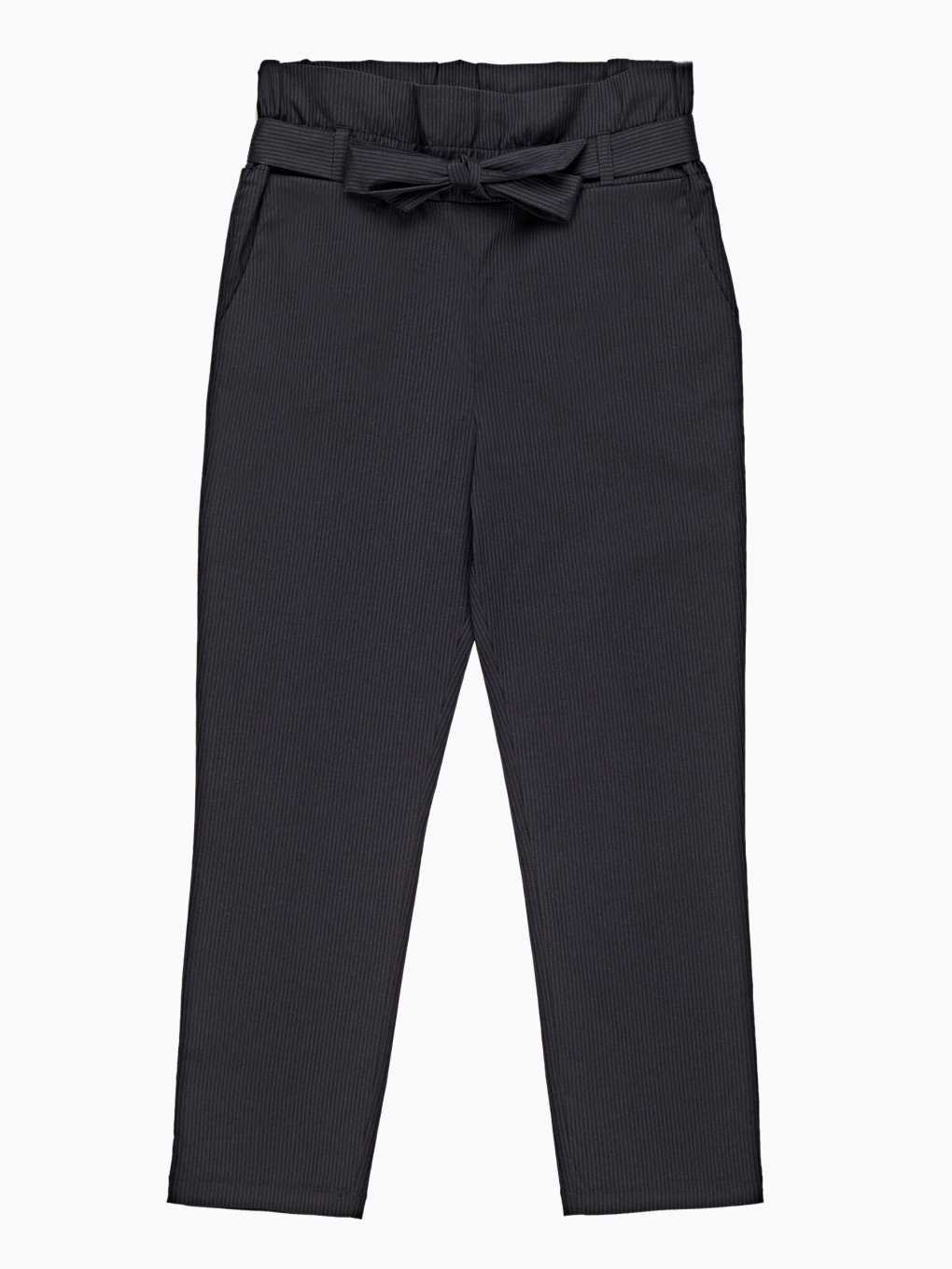 High waisted paper bag striped trousers