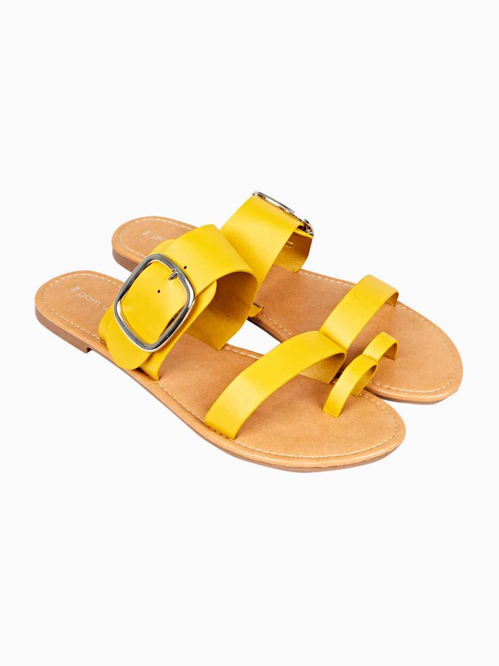 Slides with buckle