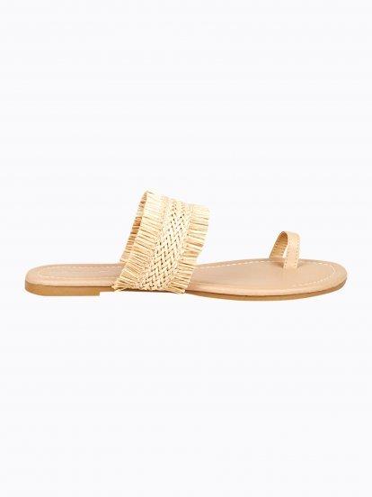 Flat slides with fringes