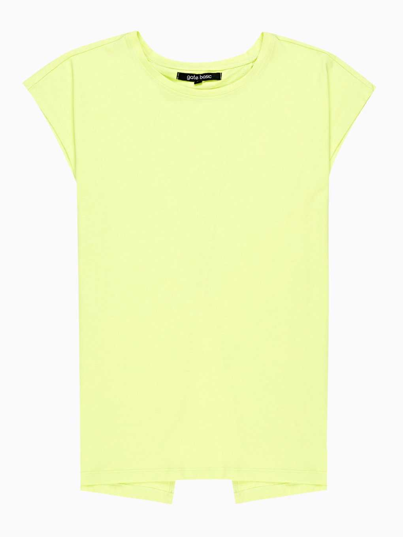 Back slit t-shirt