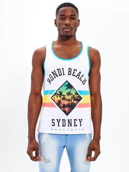 Tank with print