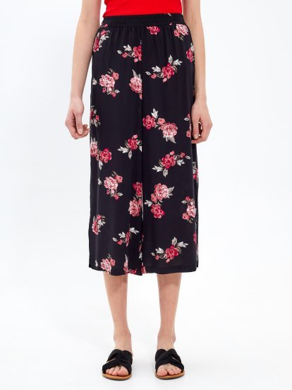 Flower print culottes
