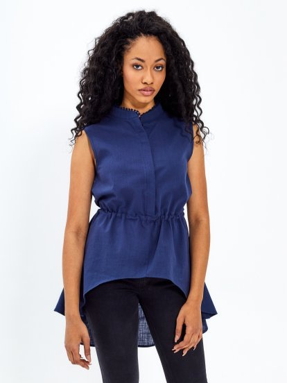 Peplum blouse top