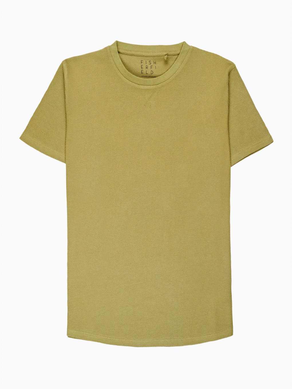 Dlhé vafľové tričko