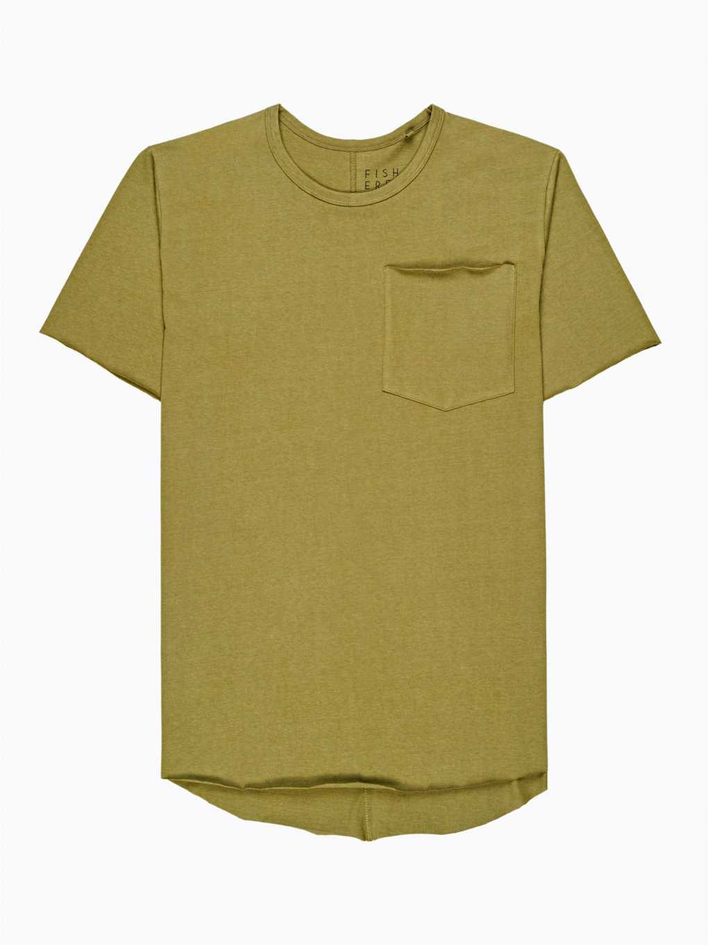 T-shirt with raw edges