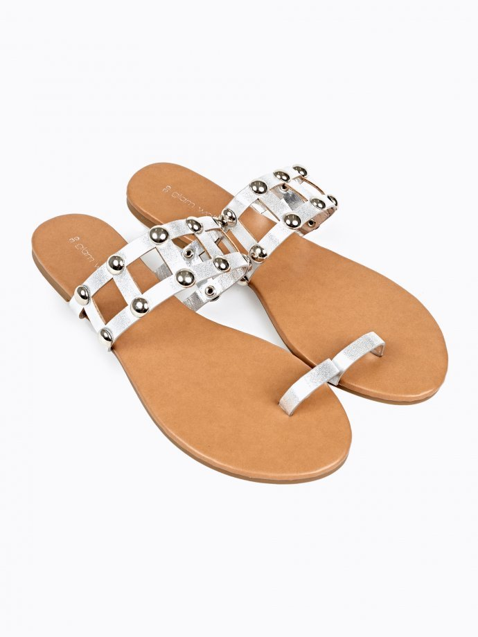 METALLIC FLAT SLIDES WITH STUDS