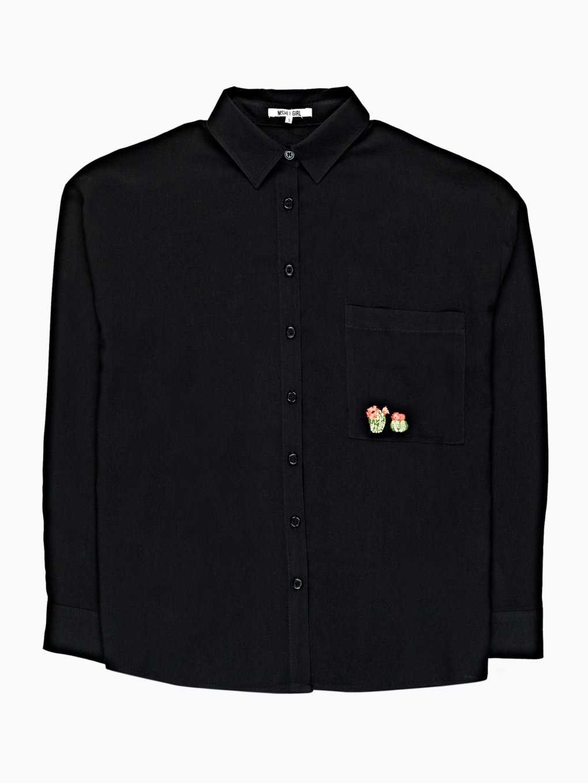 Široká košile s výšivkou