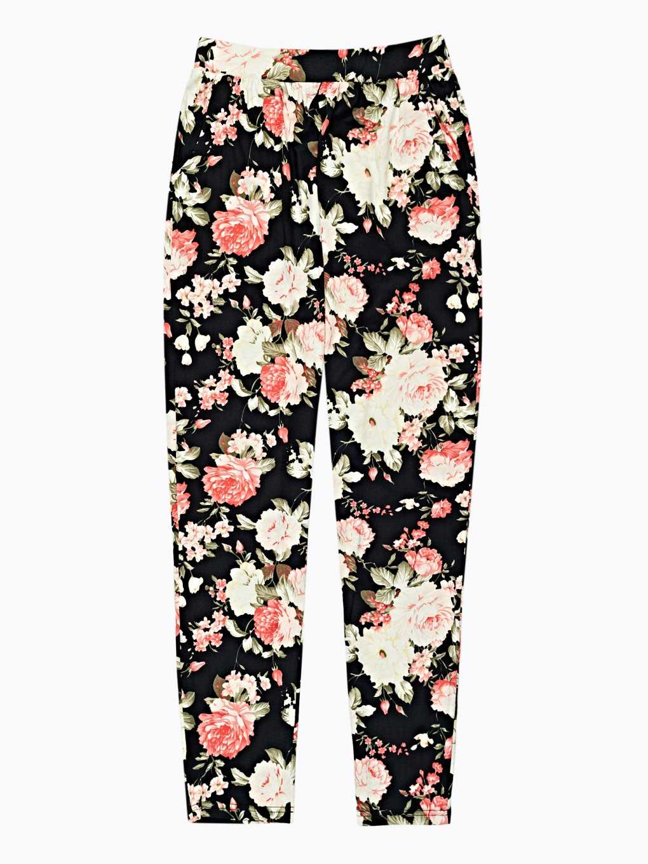 Flower print trousers