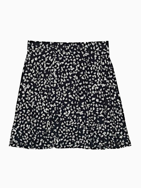Áčková sukňa s kvetinovou potlačou