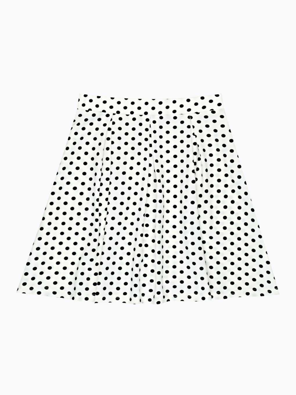 Spódnica w kształcie litery A w kropki