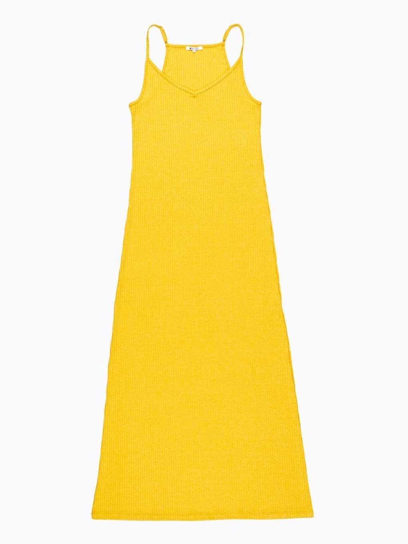 Długa sukienka ze splotu żeberkowego