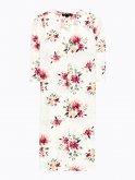 Longline floral print blazer