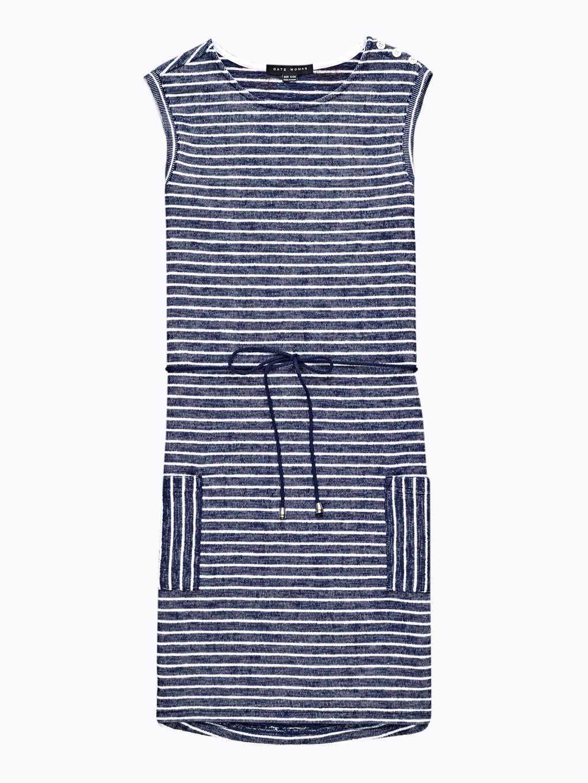 Sukienka w prążki bez rękawów