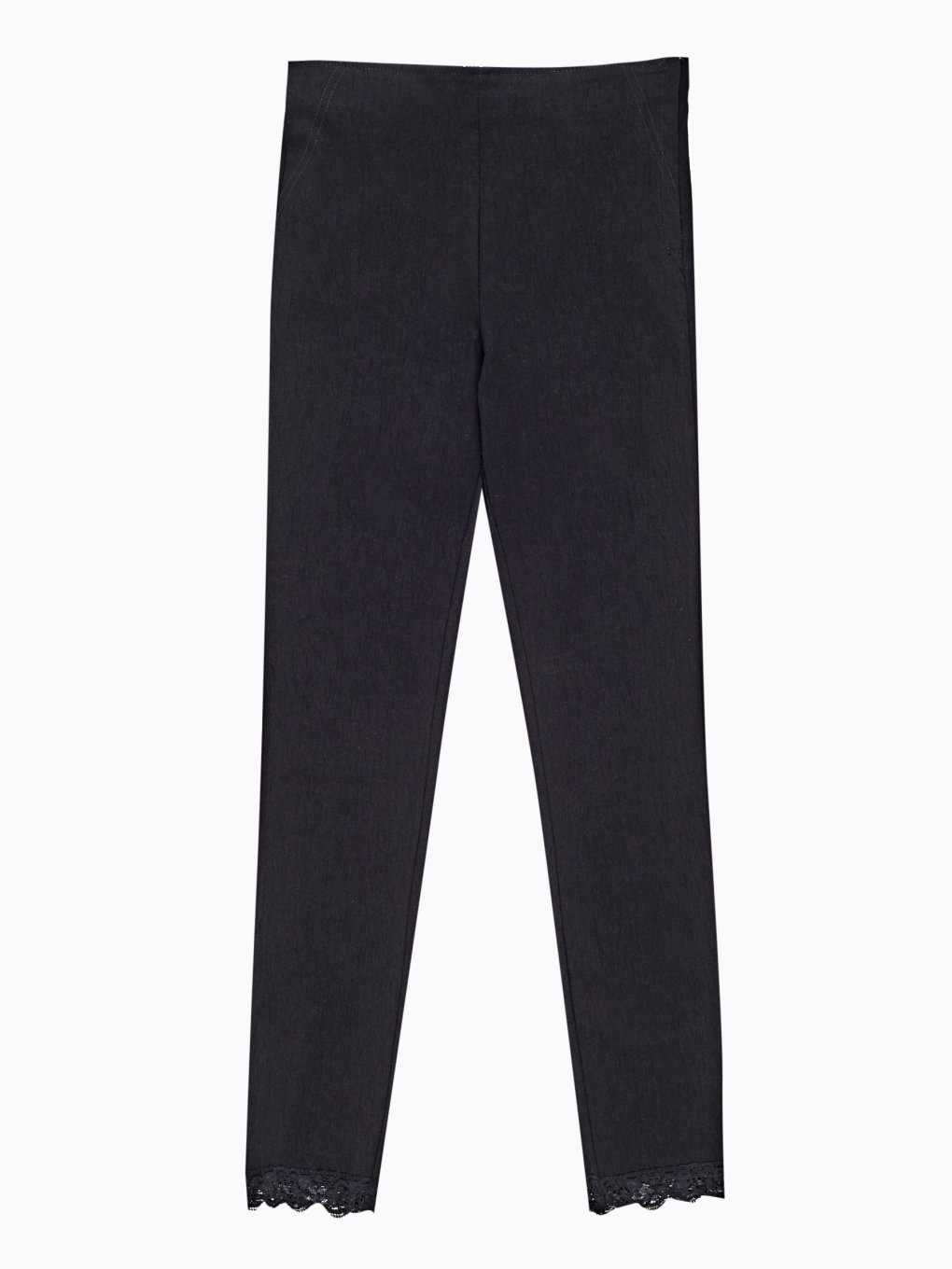 Super skinny trousers with lace hem