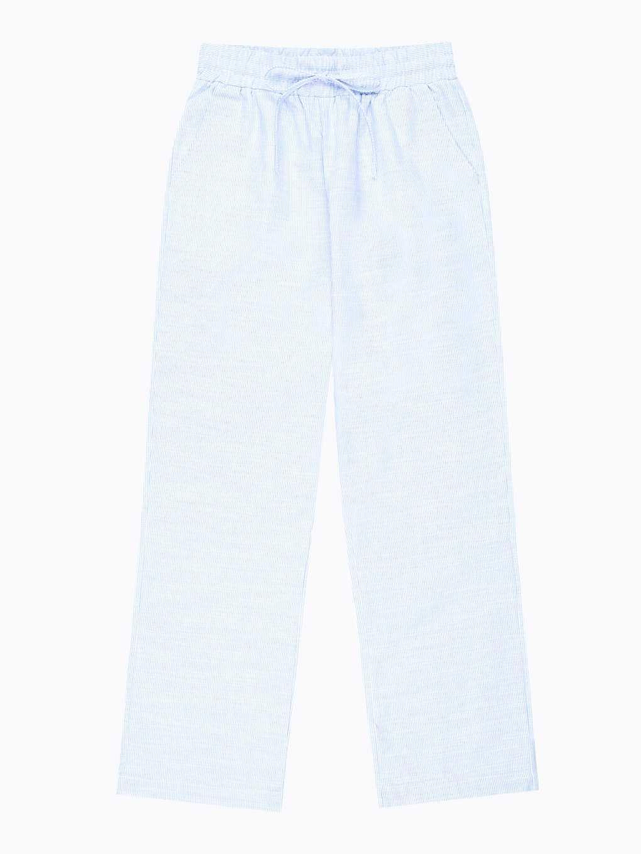 Wide leg cotton trousers