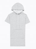Longline hoodie with lacing