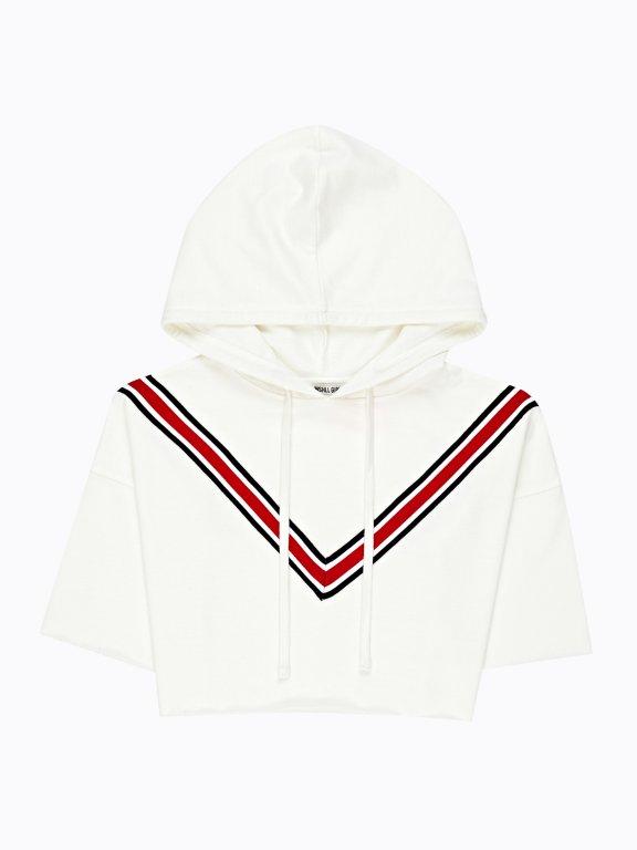 Cropped hoodie