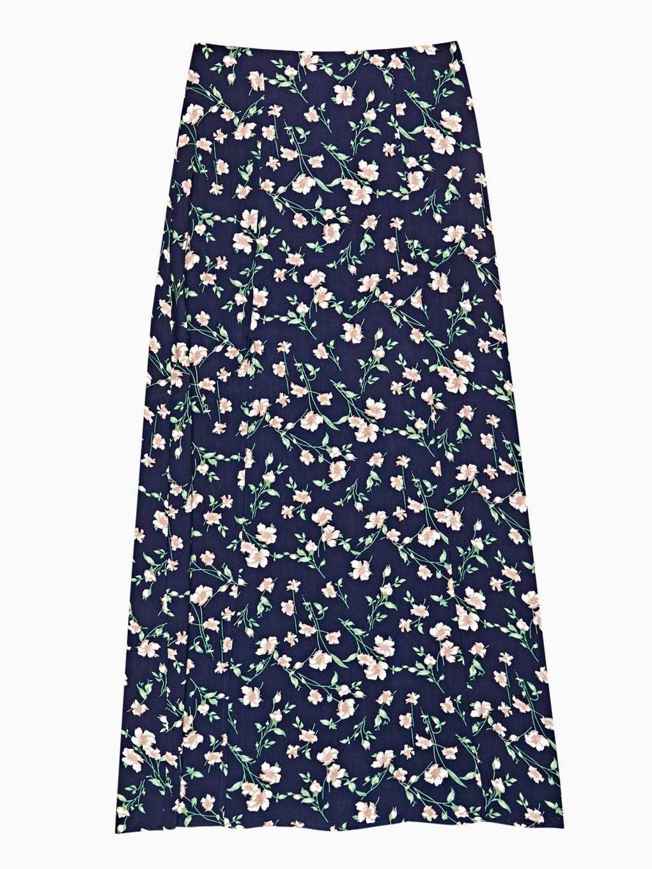 Dlhá sukňa s kvetinovou potlačou