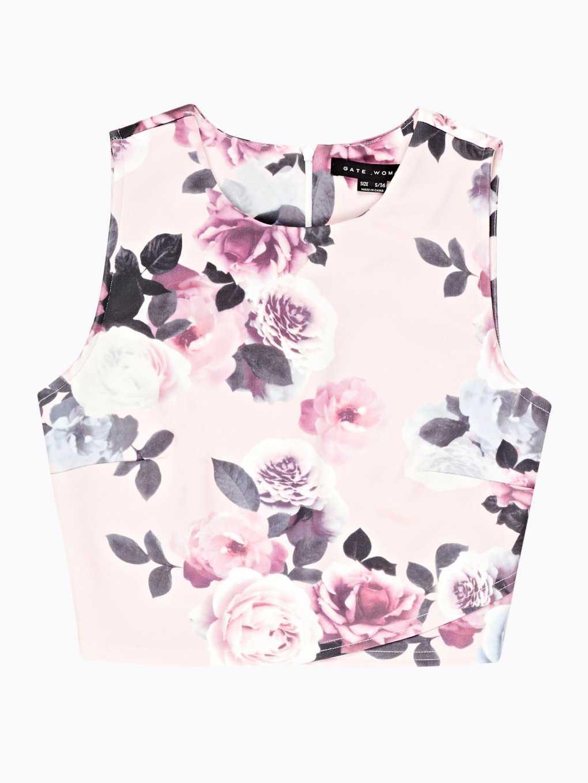Floral print cop top