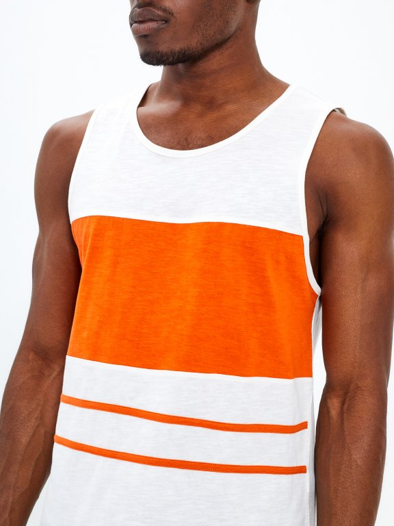 Tank with stripes
